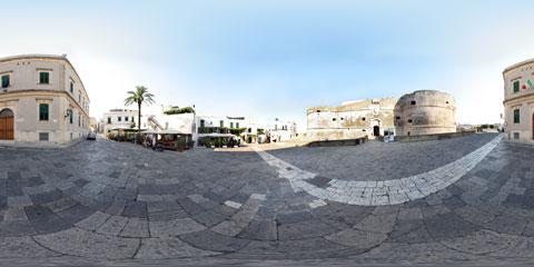 Otranto panoramica a 360° del Castello Aragonese - Forte a Mare