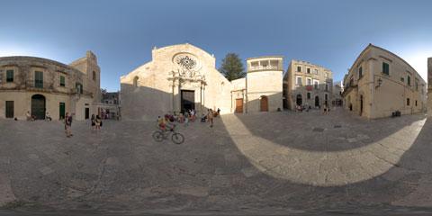 Otranto panoramica a 360° della Cattedrale con il mosaico di Pantaleone