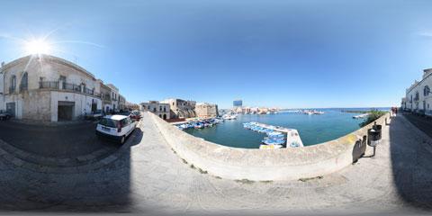 Gallipoli, panoramica a 360° dalla Riviera Armando Diaz
