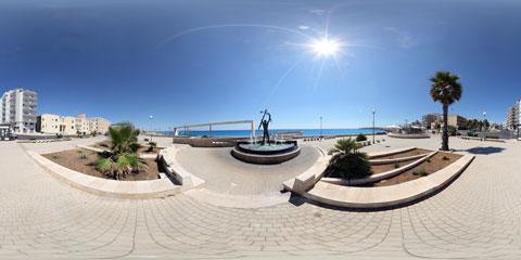 Gallipoli panoramica a 360° del lungomare sud, riviera Galileo Galilei