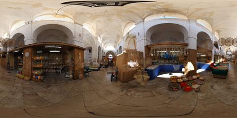 Gallipoli panoramica a 360° del mercato coperto di Piazza Imbriani - a ridosso del Castello