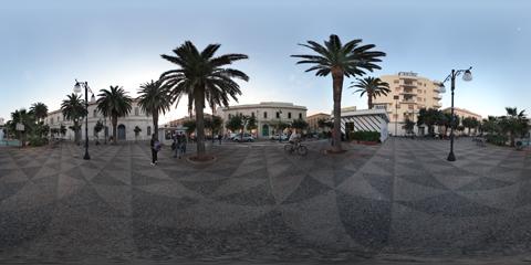 Gallipoli Piazza Carducci con panoramica a 360°