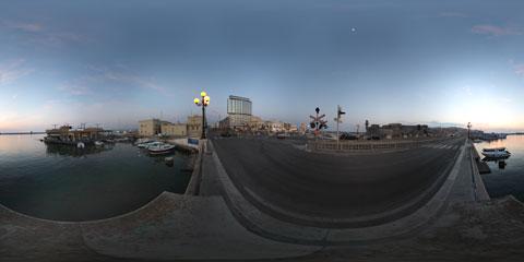 Gallipoli veduta dal Ponte vecchio con panoramica immersiva a 360°