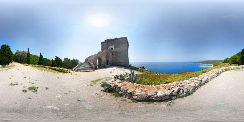 Porto Selvaggio, Torre dell'Alto con panoramica a 360°