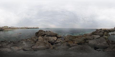 Gallipoli Seno della Purità con visione panoramica a 360° e vista sulle mura antiche