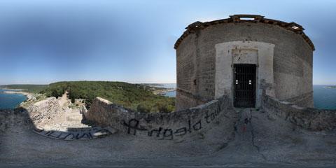 Porto Selvaggio, Torre dell'Alto con visione panoramica a 360°