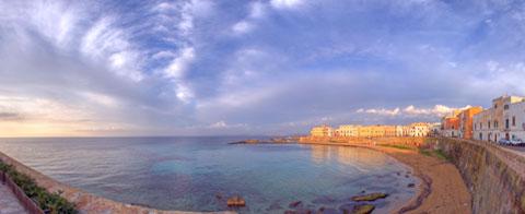 Spiaggia della Purità al tramonto a 360°